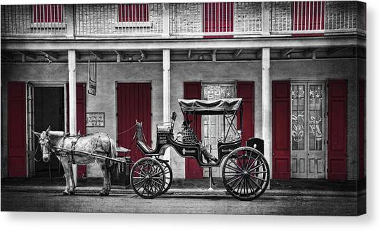 Carriage Canvas Print - Camino Real Muelle by Tammy Wetzel