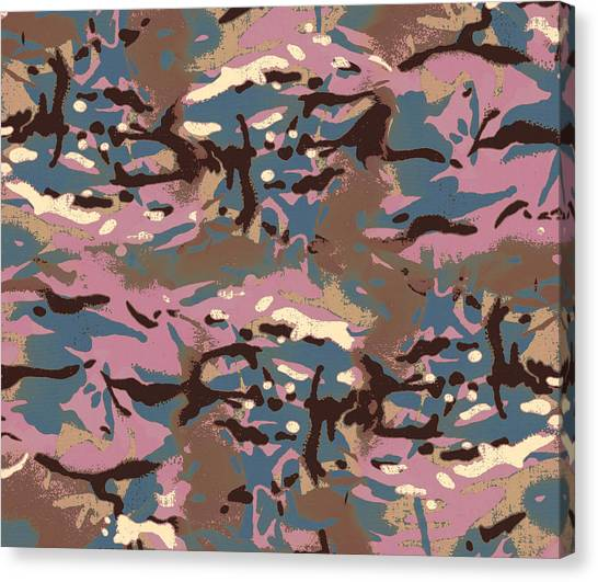 Pink Camo Canvas Print - Camo Camo    Don't Blend In With The Crowd by Jon Delorme