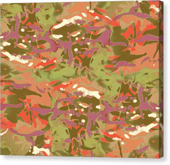 Red Camo Canvas Print - Camo Camo, Look At Me by Jon Delorme