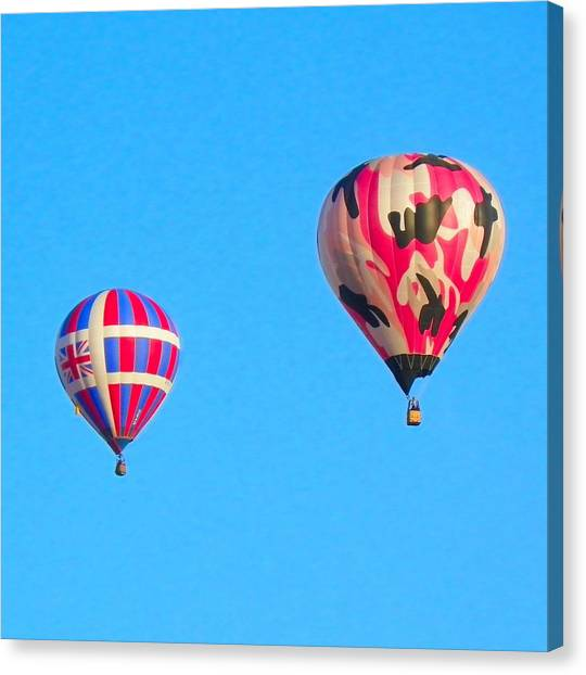 Pink Camo Canvas Print - Camo In The Sky by Loring Laven