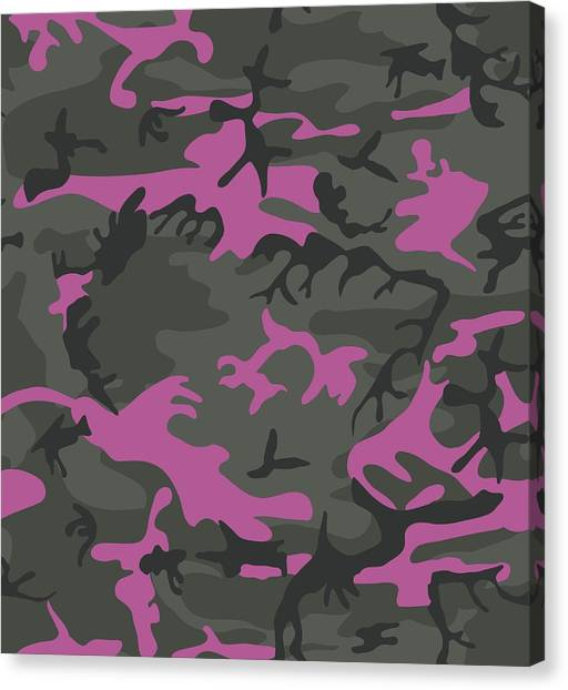 Pink Camo Canvas Print - Camo With Pink  by Immaculate World