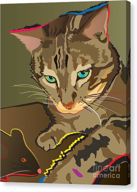 Camouflage Bengal Cat Canvas Print