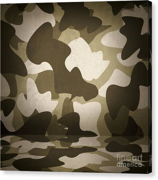 Special Forces Canvas Print - Camouflage Military Interior Background by Jorgo Photography - Wall Art Gallery
