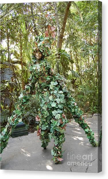 Camouflaged Tree Street Performer Animal Kingdom Walt Disney World Prints Canvas Print