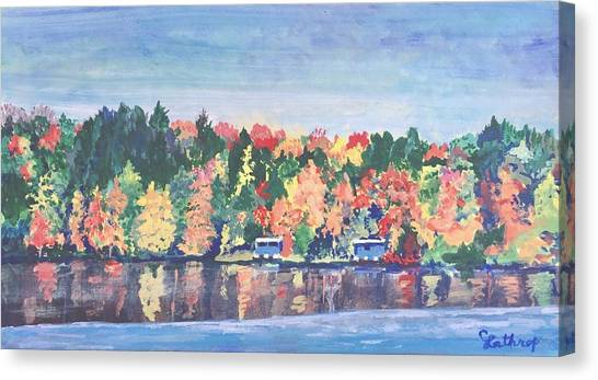 Girl Scouts Canvas Print - Camp Archbald At Ely Lake by Christine Lathrop