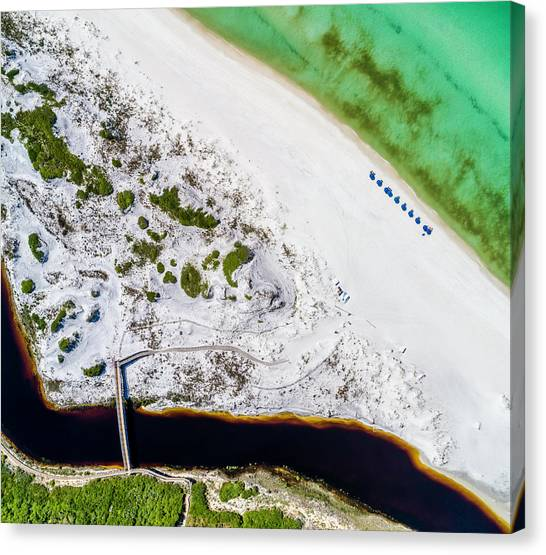 Camp Creek Lake Outfall Aerial Canvas Print