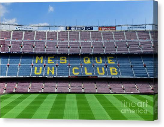 Fc Barcelona Canvas Print - Camp Nou Stadium by John Greim