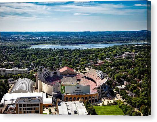 University Of Wisconsin - Madison Canvas Print - Camp Randall Stadium - Madison Wisconsin by Mountain Dreams