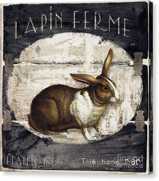 Pig Farms Canvas Print - Campagne Iv Rabbit Farm by Mindy Sommers