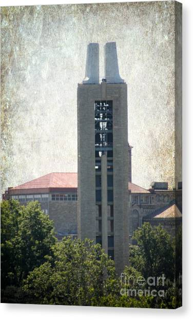 University Of Kansas Canvas Print - Campanile by Amy Steeples