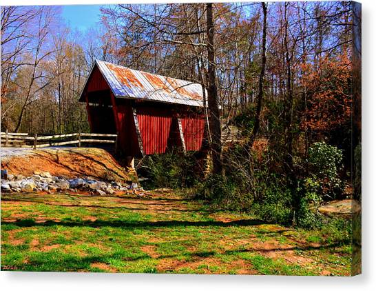 Campbell's Covered Bridge Est. 1909 Canvas Print