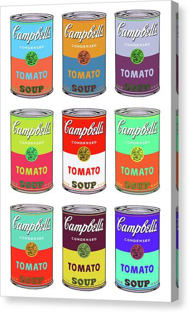 Andy Warhol Canvas Print - Campbell's Soup Cans Pop Art by Andy Warhol