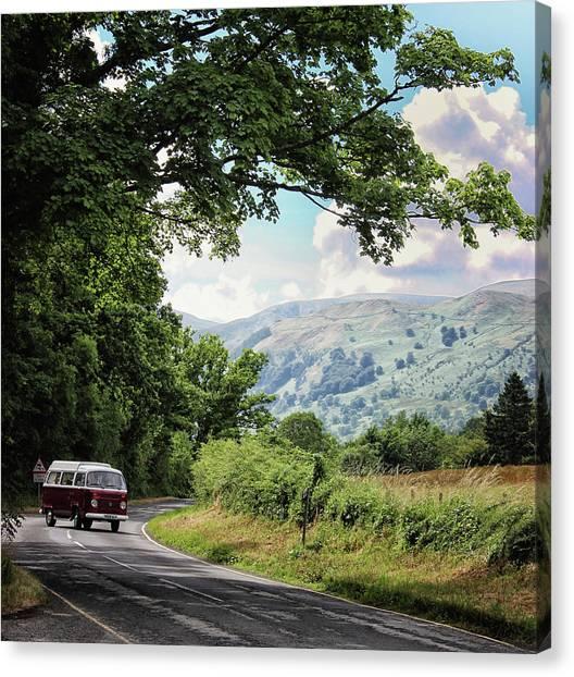 Caravan Canvas Print - Camper Travels by Martin Newman