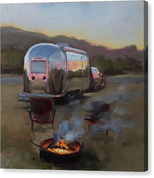 Campfire At Palo Duro Canvas Print
