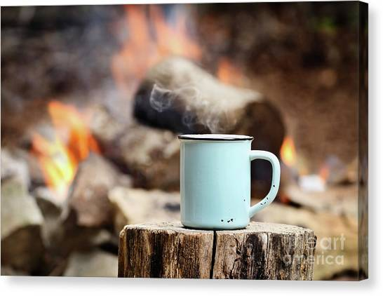 Campfire Coffee Canvas Print