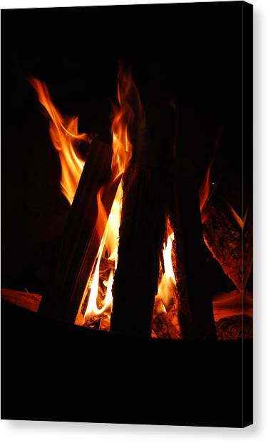 Campfire Canvas Print by Kimberly Camacho