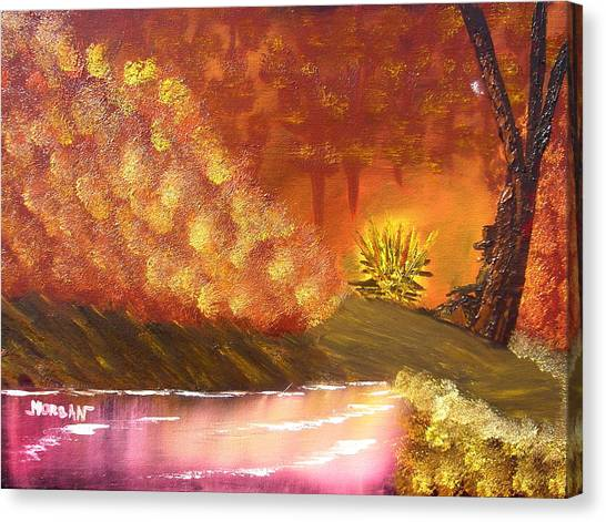 Campfire Canvas Print by Sheldon Morgan