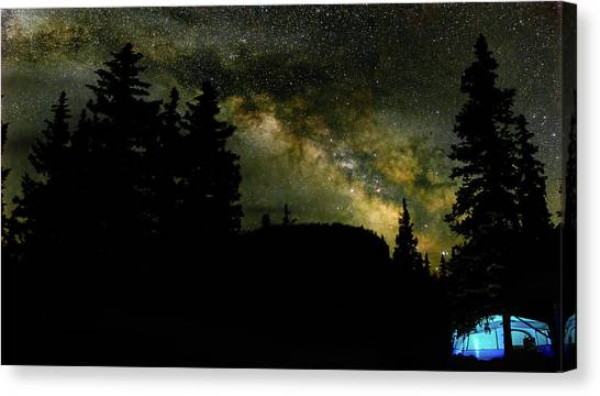 Camping Under The Milky Way 2 Canvas Print