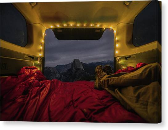 Camping Views Canvas Print