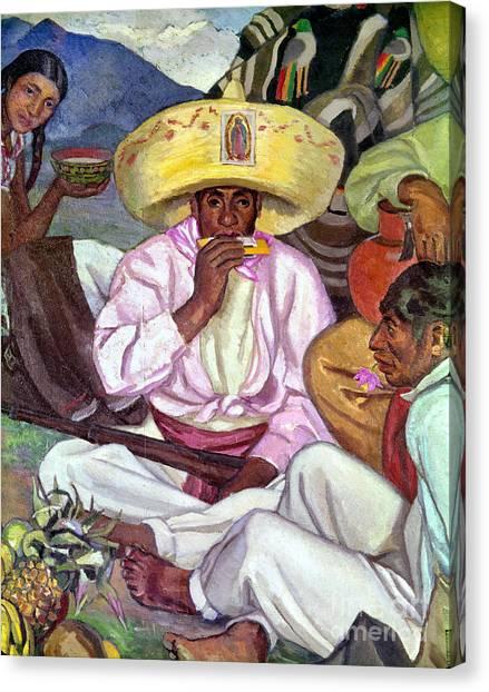 Harmonicas Canvas Print - Camping Zapatistas, 1922 by Granger