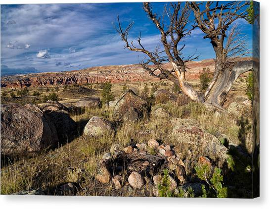 Bishop Hill Canvas Print - Campsite In Wind River Country by Kathleen Bishop