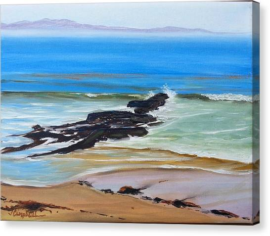 Ucsb Canvas Print - Campus Points To Santa Cruz by Jeffrey Campbell
