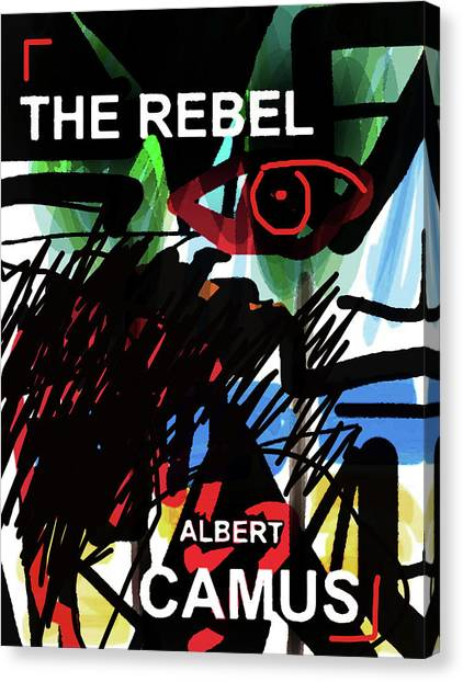 Camus The Rebel  Poster Canvas Print