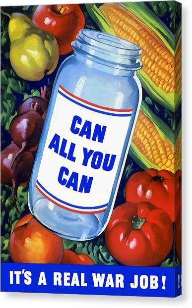 Conservation Canvas Print - Can All You Can -- Ww2 by War Is Hell Store