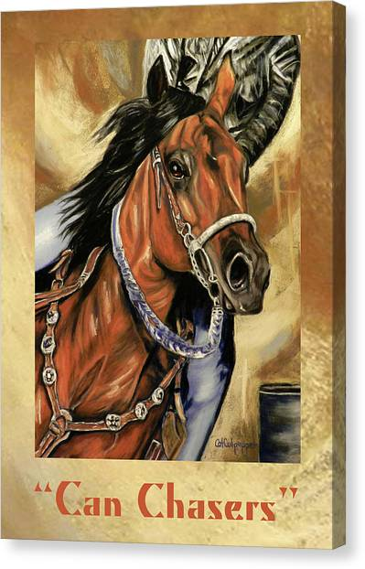Barrel Racing Canvas Print - Can Chasers by Cat Culpepper
