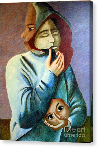 Can I Hide My Identity  Can I Play A Role Canvas Print by Tanni Koens