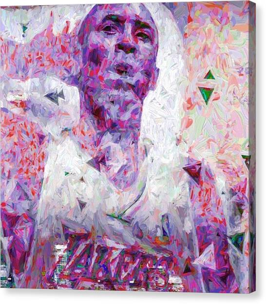 Basketball Canvas Print - Can You Hear Me Now ? #charlottehornets by David Haskett II