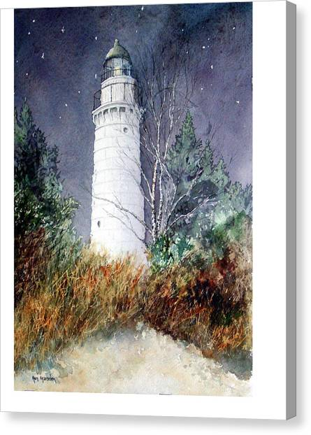 Cana Island Light House Canvas Print