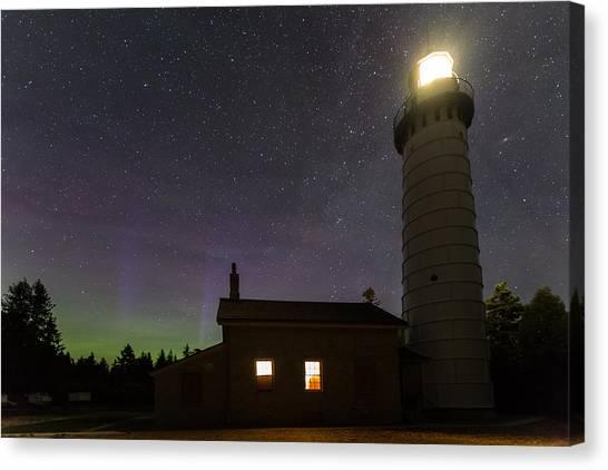 Cana Island Northern Lights Canvas Print
