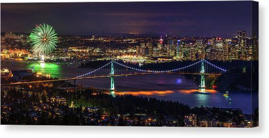 Canvas Print featuring the photograph Canada Day Celebration In Vancouver City by Pierre Leclerc Photography