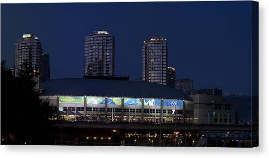 Vancouver Canucks Canvas Print - Canada Hockey Place by Scott Merriman