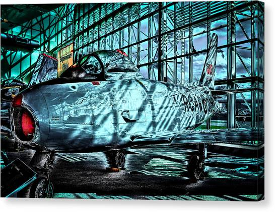Prop Planes Canvas Print - Canadair Cl-13b Sabre Mk. 6  by David Patterson