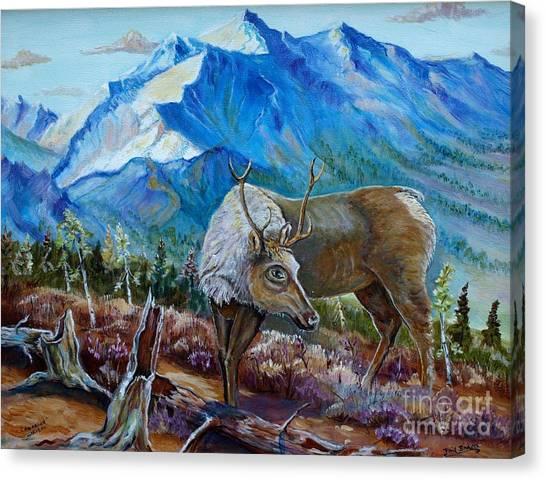 Canadian Caribou Canvas Print
