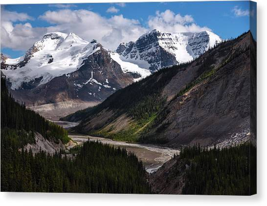 Canada Glacier Canvas Print - Canadian Glaciers In Jasper National Park by Dave Dilli