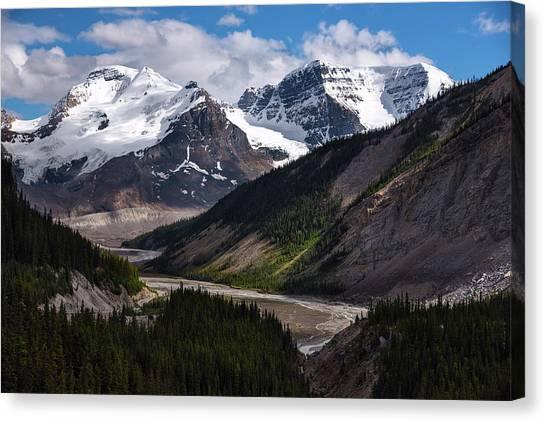 Canada Glacier Canvas Print - Canadian Glaciers In Jasper National Park by Dave Dilli