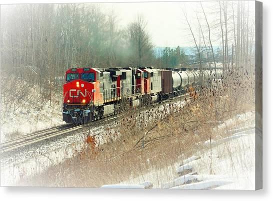 Canadian National Railway Vignette Canvas Print
