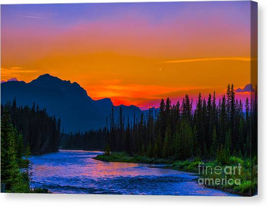 Canadian Rocky Sunset Canvas Print