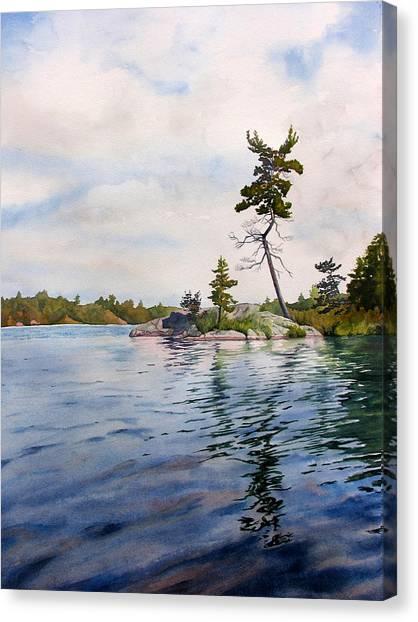 Canadian Shield Sculpture Canvas Print by Debbie Homewood