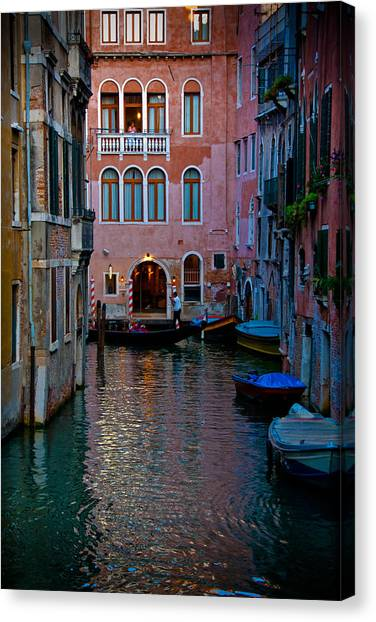 Canal At Dusk Canvas Print