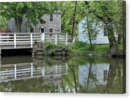 Canal At Griggstown Canvas Print