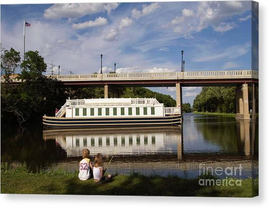 Canal Boat  Canvas Print