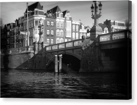 Canvas Print featuring the photograph Canal Bridge by Scott Hovind