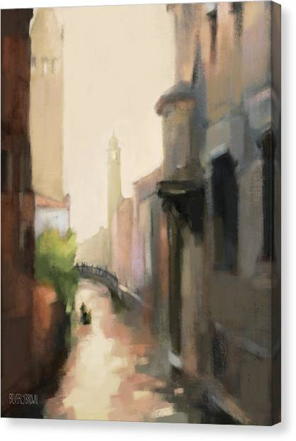 Lounge Canvas Print - Canal Dorsoduro Venice by Beverly Brown
