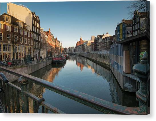 Canal From The Bridge Canvas Print
