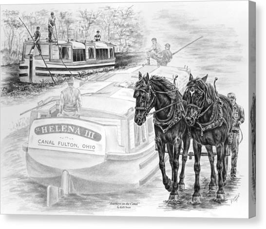 Canal Fulton Ohio Print - Journeys On The Canal Canvas Print