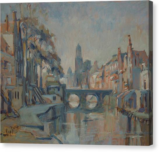 Canvas Print - Canal In Utrecht by Nop Briex